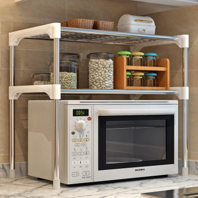 索爾諾防銹噴涂微波爐層架/廚房/浴室多用途置物架/收納架/儲物架 Z002