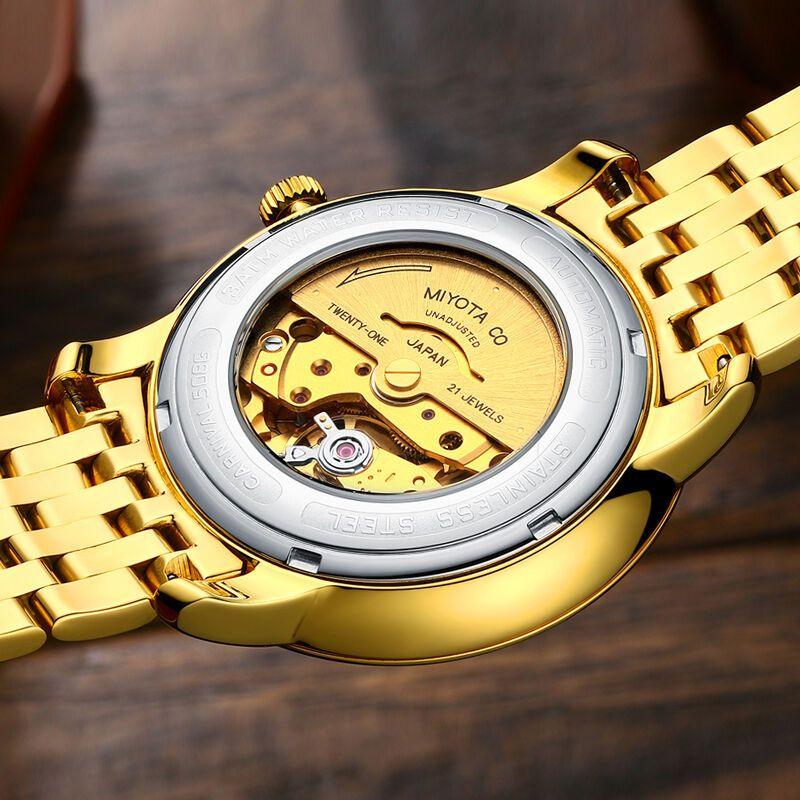 瑞士嘉年华carnival男士手表全自动机械表简约防水双日历罗马刻度复古