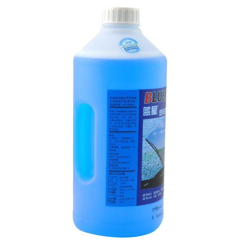 蓝星汽车玻璃水 雨刮水除雪水2l 冬季专用 蓝星玻璃水