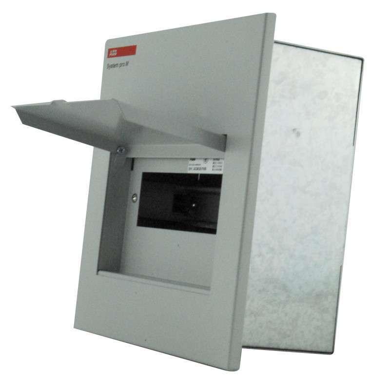 abb 强电配电箱/暗装/金属面盖/8回路空气开关箱 acm8