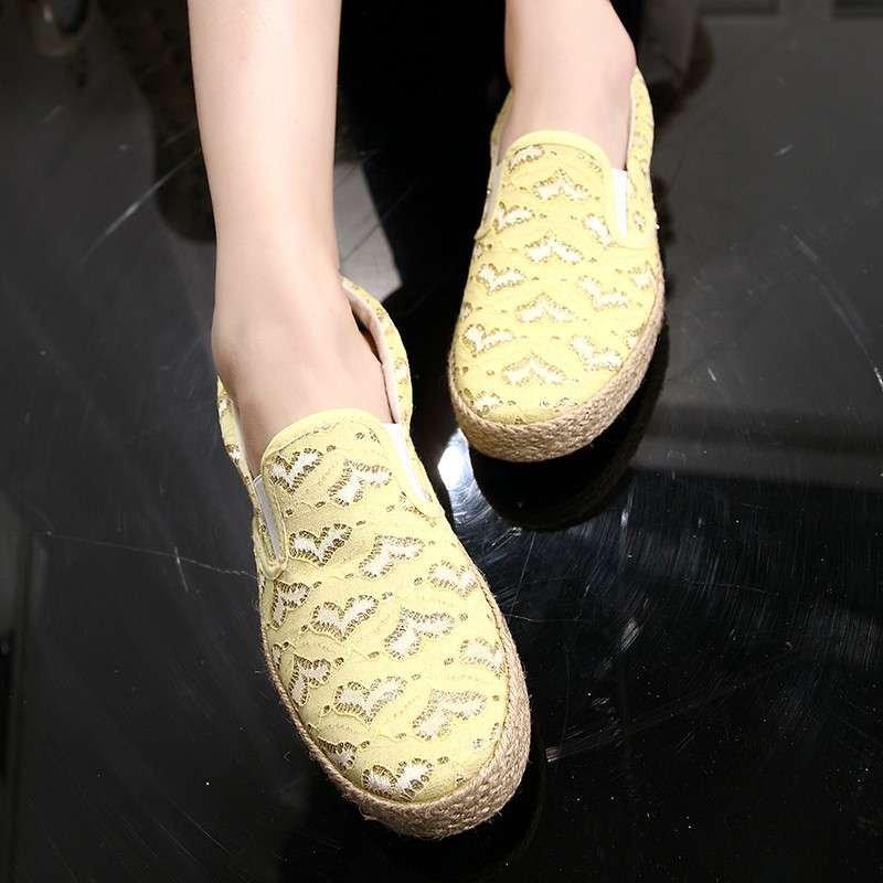 蕾丝女鞋夏季