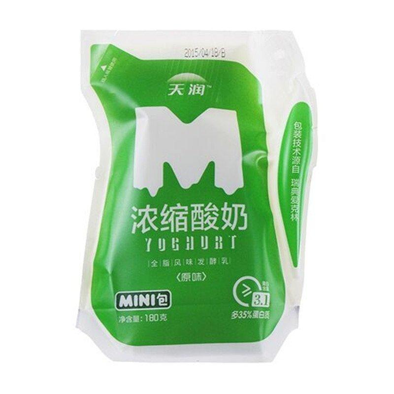 天润浓缩酸奶 180gx12袋 绿袋 新疆酸奶 产发mk