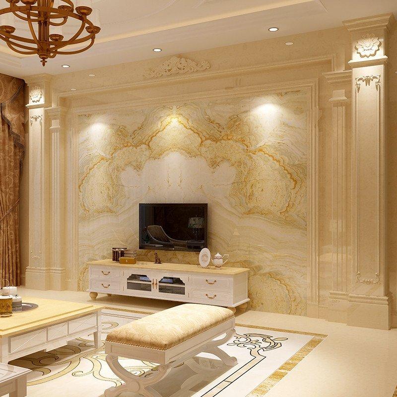 唐梦 微晶石电视背景墙 瓷砖欧式客厅仿大理石背景墙