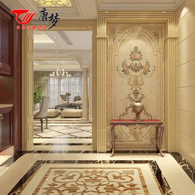 唐梦 玄关瓷砖背景墙 艺术瓷砖 欧式客厅 罗曼蒂克