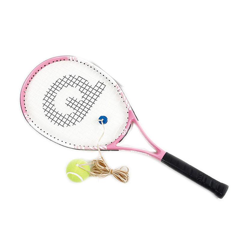 一体碳铝合金学生网球拍初学单人网球拍初级v一体网球拍强力网球拍老年高尔夫球图片