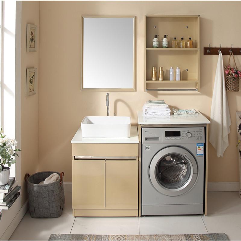 格雷诺不锈钢洗衣柜台盆滚筒洗衣机柜子浴室洗衣机柜组合阳台定制