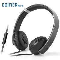 Edifier/漫步者 H750p手机耳机 头戴式线控带麦 智能手机耳机 黑色
