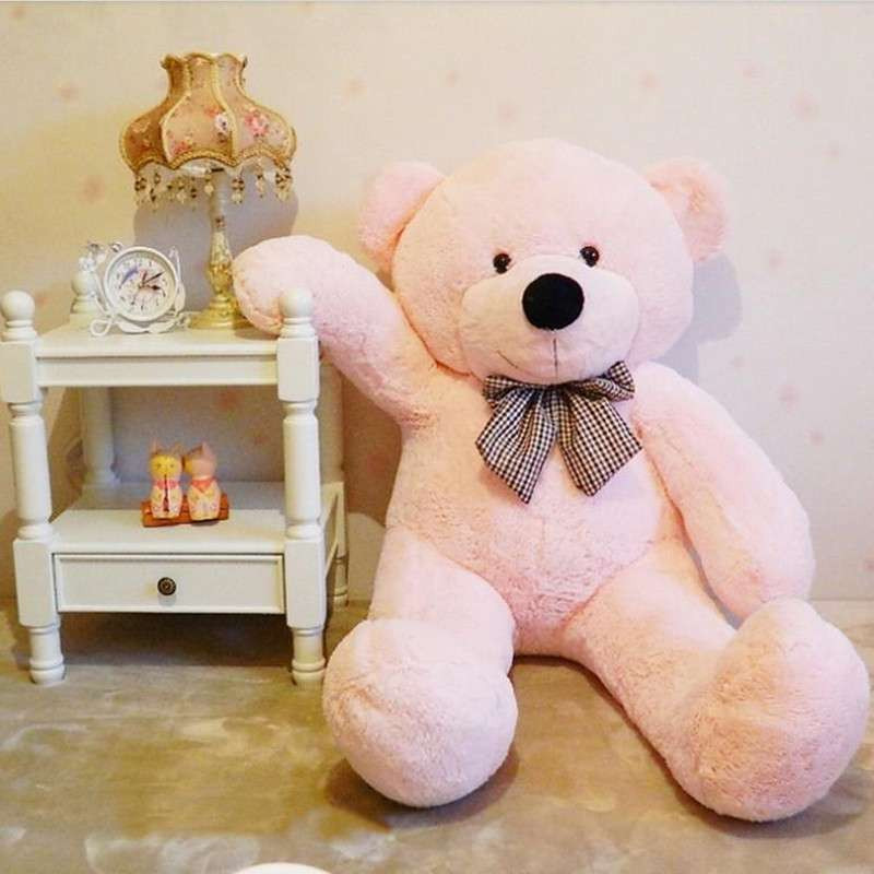 熙幼伊 可爱 泰迪熊 毛绒玩具布娃娃 公仔抱抱熊 粉色