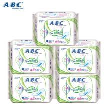 ABC 卫生护垫 丝薄棉柔 迷你护垫 巾身163mm25片*5包促销装