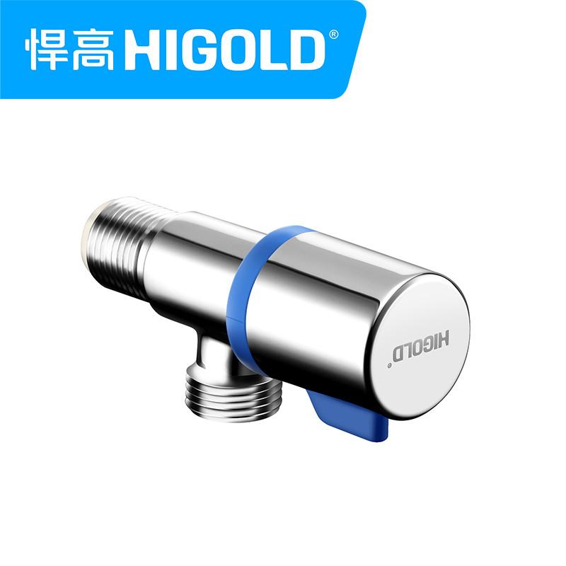 higold/悍高 通用主体全铜冷热角阀 止水阀 三角阀 厨房水槽配套角阀图片