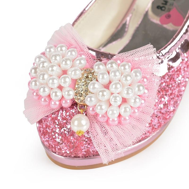 春秋女童皮鞋高跟鞋小学生表演鞋67儿童