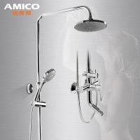 不锈钢升降杆 妇洗器 abs工程塑料花洒喷头 铜质混水阀 入墙式多出水图片