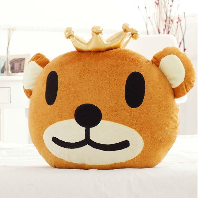 皇冠熊创意毛绒玩具 趴趴熊可爱小熊公仔靠垫抱枕 生日礼物 80厘米