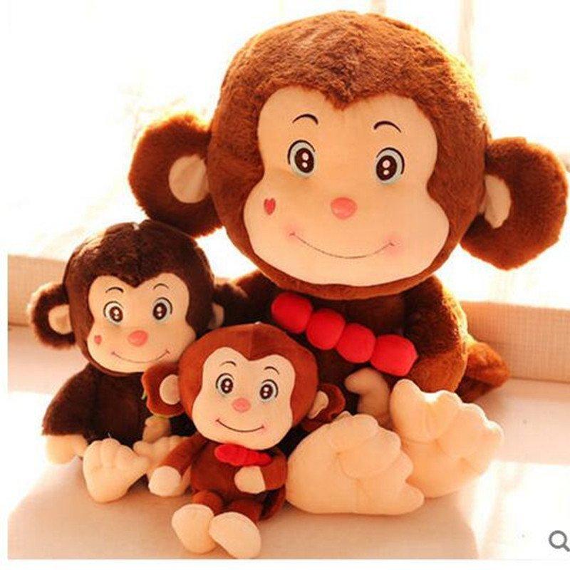 可爱拿糖葫芦小猴公仔 抱桃子猴毛绒玩具布娃娃儿童玩偶猴年礼物