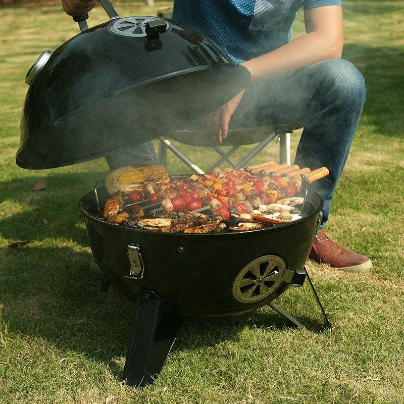 舱烧烤炉家用烧烤架户外 野外便携式木炭烤肉架 碳烤炉大号烤肉炉子