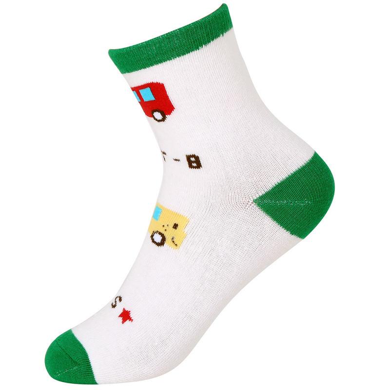 mawcha 童袜儿童袜子男童棉袜可爱卡通中筒学生袜四季