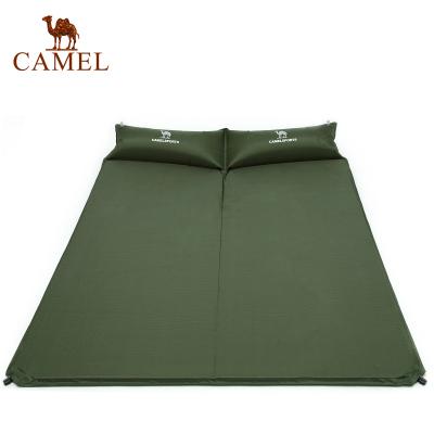 CAMEL駱駝戶外防潮墊 郊游野營帳篷帶枕雙人自動充氣睡墊防潮墊