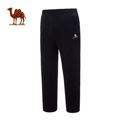 CAMEL骆驼户外运动裤 2018新款男款跑步修身透气直筒卫裤针织棉运动长裤