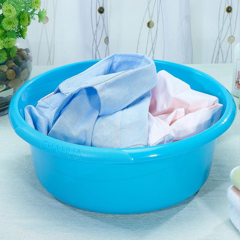 茶花脸盆洗衣盆塑料家用洗衣服成人小大盆子塑料盆大号加厚洗脸盆图片