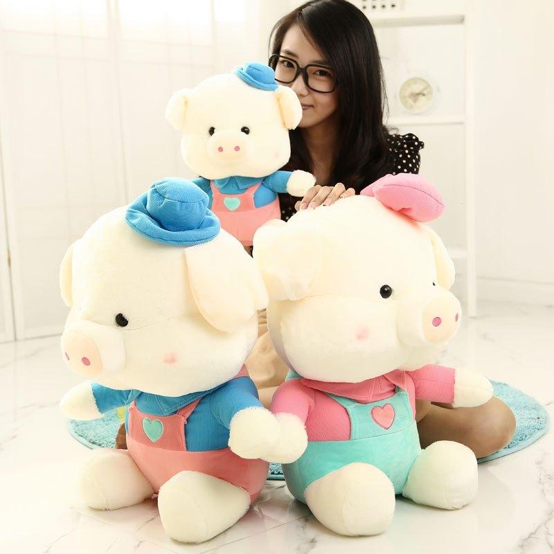 三千易 情侣猪公仔小猪毛绒玩具可爱猪猪玩偶布娃娃情人节生日礼物送