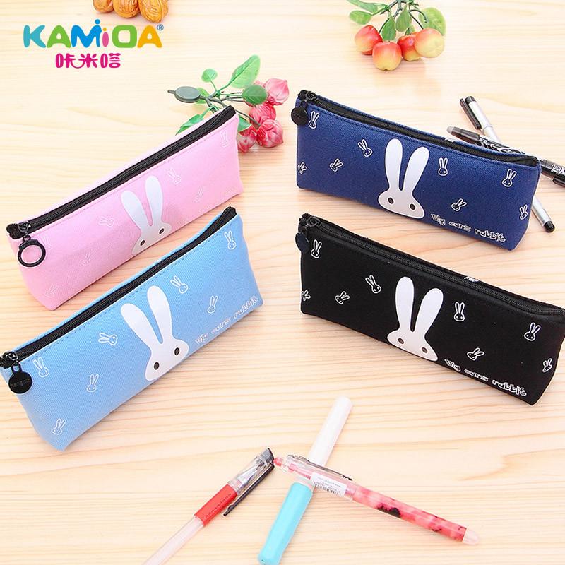 咔米嗒笔袋女生小学生文具盒韩国可爱铅笔袋