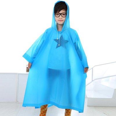 强迪儿童加厚EVA雨衣斗篷式男女学生孩子雨披无味雨衣