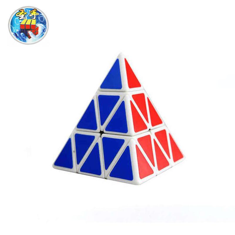 圣手三阶金字塔三角形魔方弹簧可调异形比赛专用休闲玩具赠教程