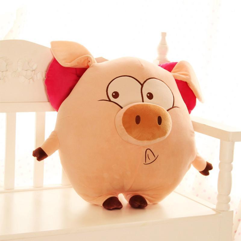 安吉宝贝 创意大号天使猪毛绒玩具可爱猪猪公仔抱枕玩偶创意生日礼物