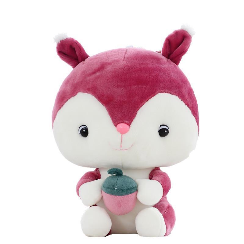 安吉宝贝 可爱松鼠公仔毛绒玩具布娃娃 小松鼠儿童玩偶 情侣情人节