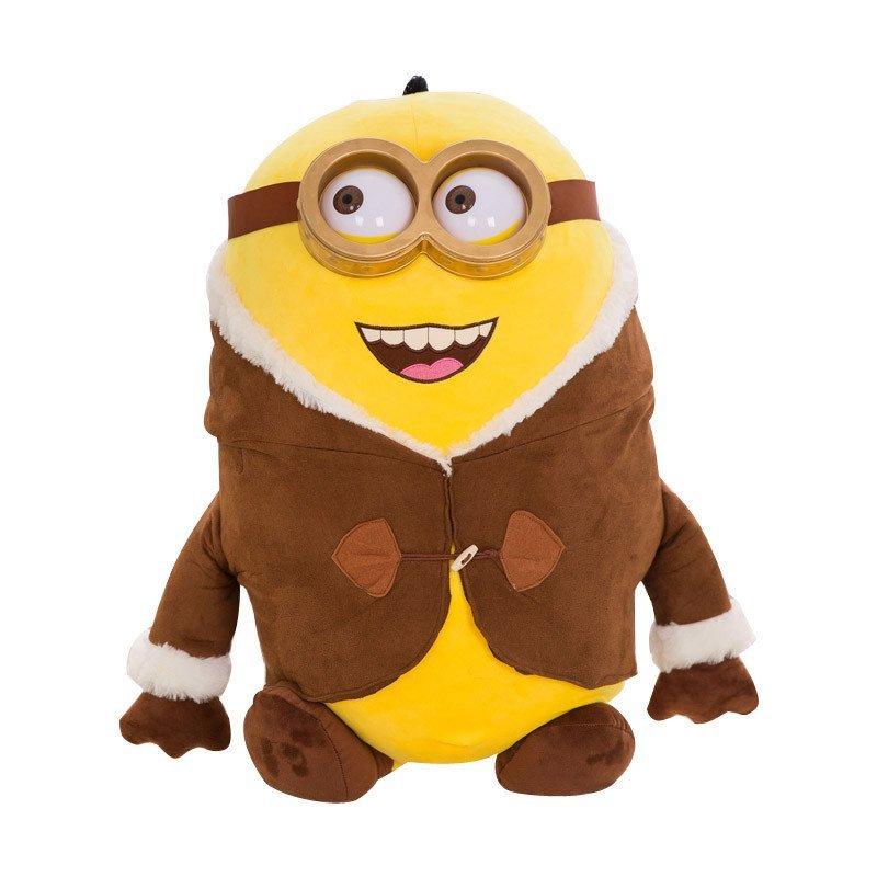 大号布娃娃玩偶生日礼物女生 毛衣款3d小黄人-大笑80cm