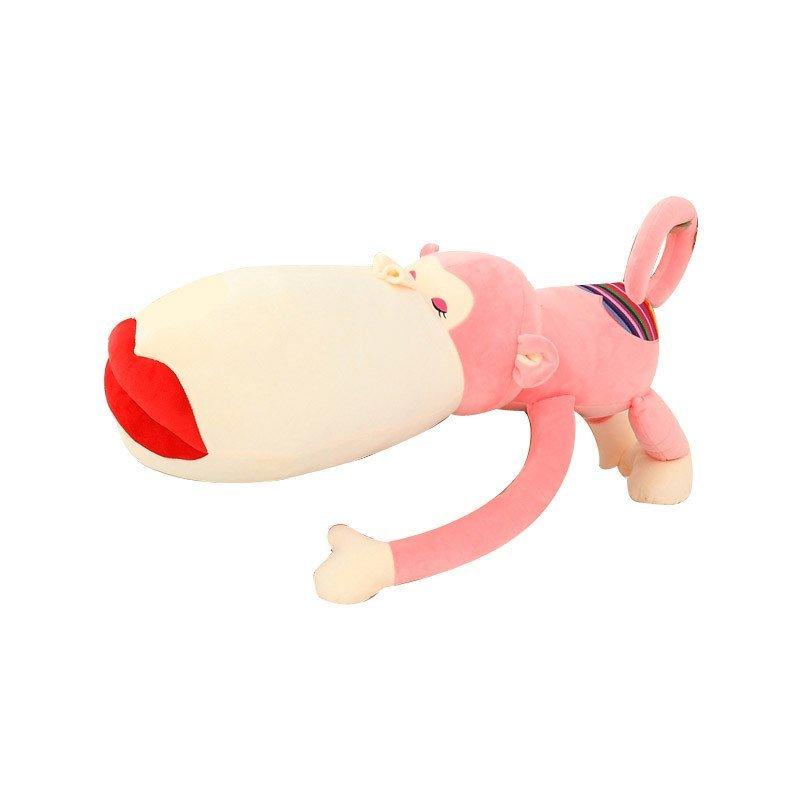安吉宝贝可爱大嘴巴红唇猴子猩猩玩偶 猴辣辣彩虹屁股