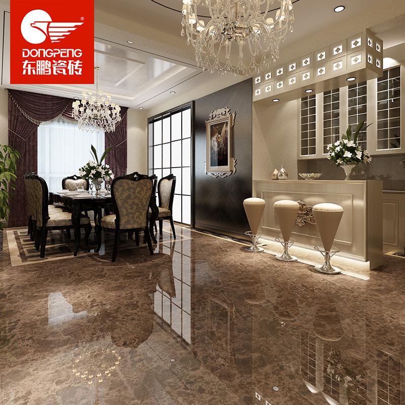 东鹏瓷砖地砖800x800客厅简约现代全抛釉地砖踢脚线瓷砖 深啡网