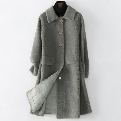 憨厚皇后2019冬季新款羊毛皮大衣女士时尚长款复合皮毛一体外套