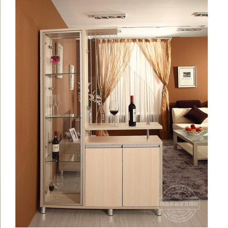 客厅间厅柜 现代简约风格屏风隔断柜 酒柜双面玄关柜隔厅柜子图片