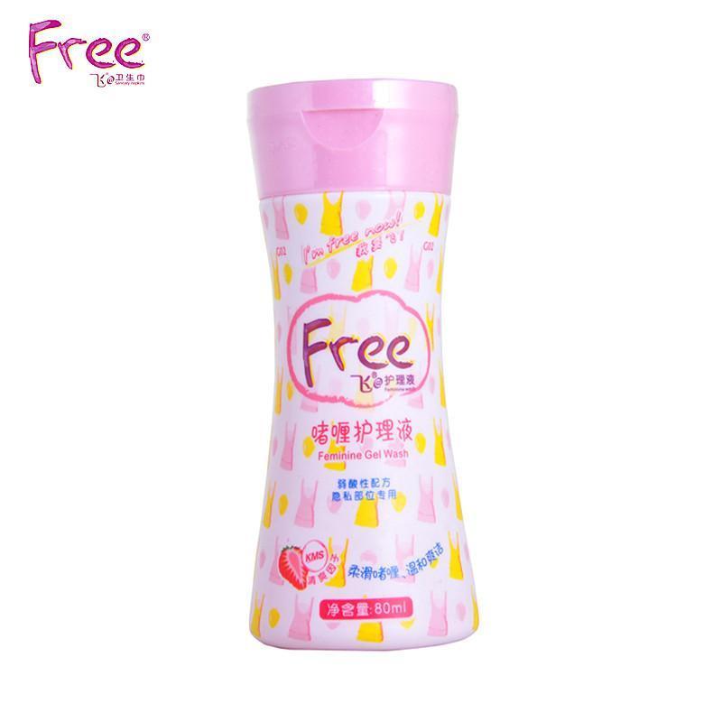 free飞女性啫喱护理液80mlx2瓶 弱酸性配方女性洗液 隐私部位专用abc