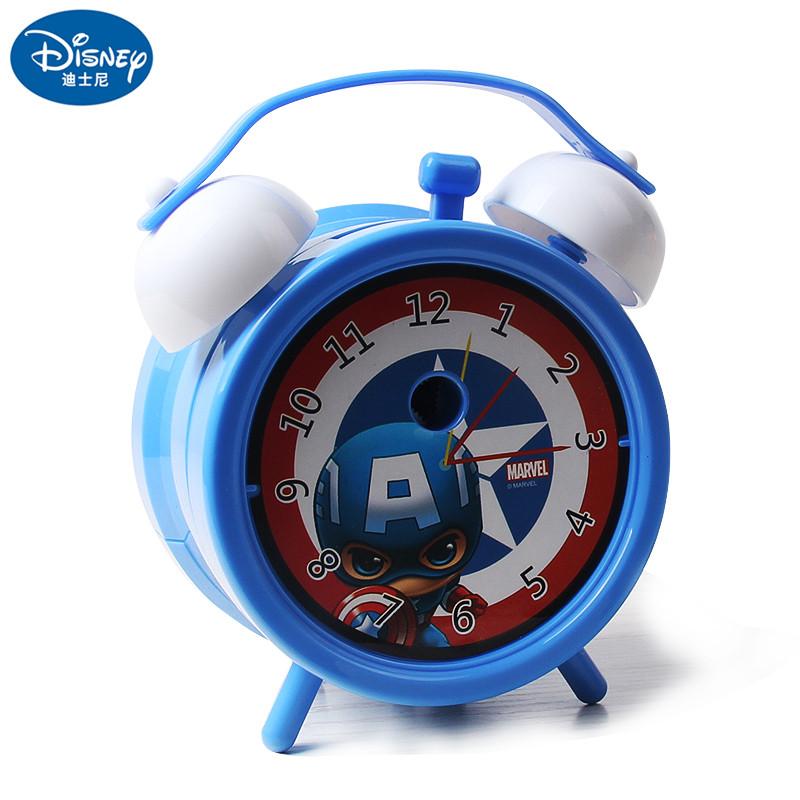 迪士尼米奇美国队长钢铁侠冰雪奇缘公主儿童手摇削笔器可爱闹钟造型小