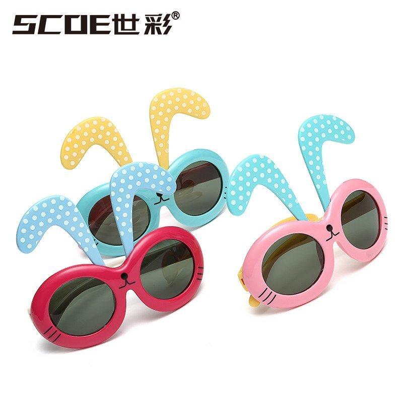 soce 儿童太阳镜眼镜偏光镜可爱眼镜小朋友眼镜男女通用户外眼镜