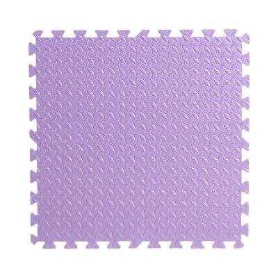 明德树叶纹泡沫地垫卧室客厅儿童爬行垫防滑垫方块拼接铺满可裁剪大号60*60加厚(紫色1片)1.2cm