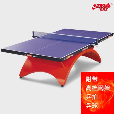 红双喜(DHS)通用乒乓球台 TCH--彩虹 不可折叠专业比赛球桌150(附赠高档网架,乒拍,乒球)