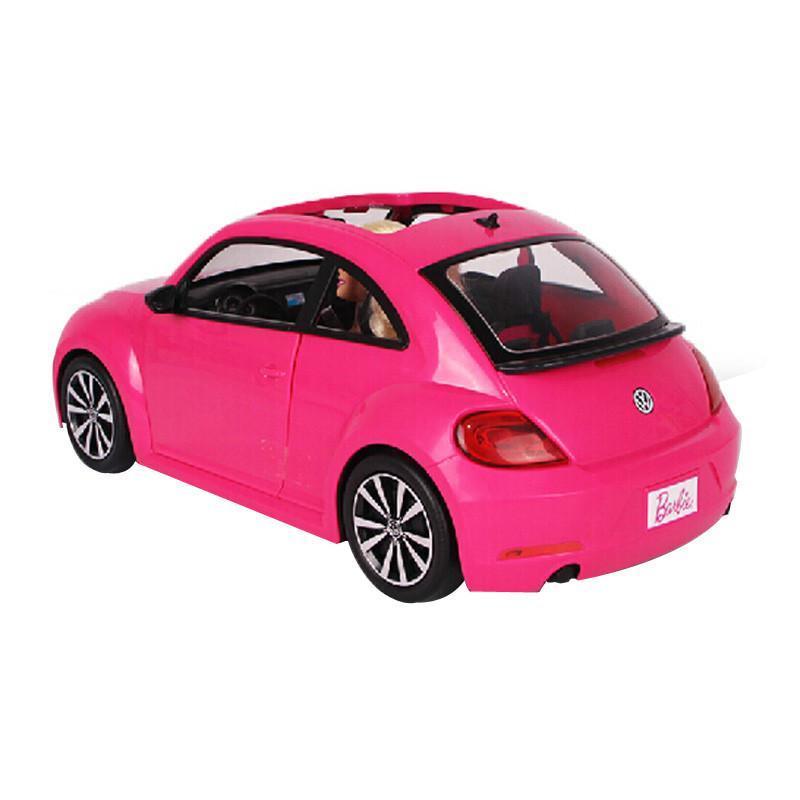 2015新品正品美泰芭比barbie娃娃小汽车女孩玩具闪亮甲壳虫bjp37