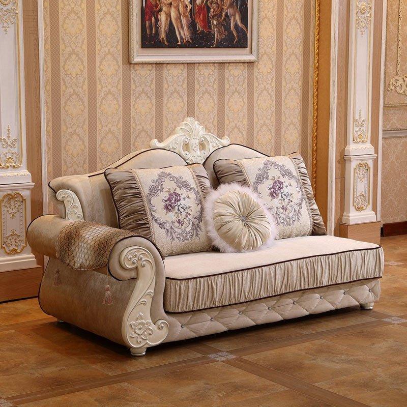 欧施洛 沙发 欧式沙发欧式实木布艺沙发贵妃小户型布艺沙发组合简欧