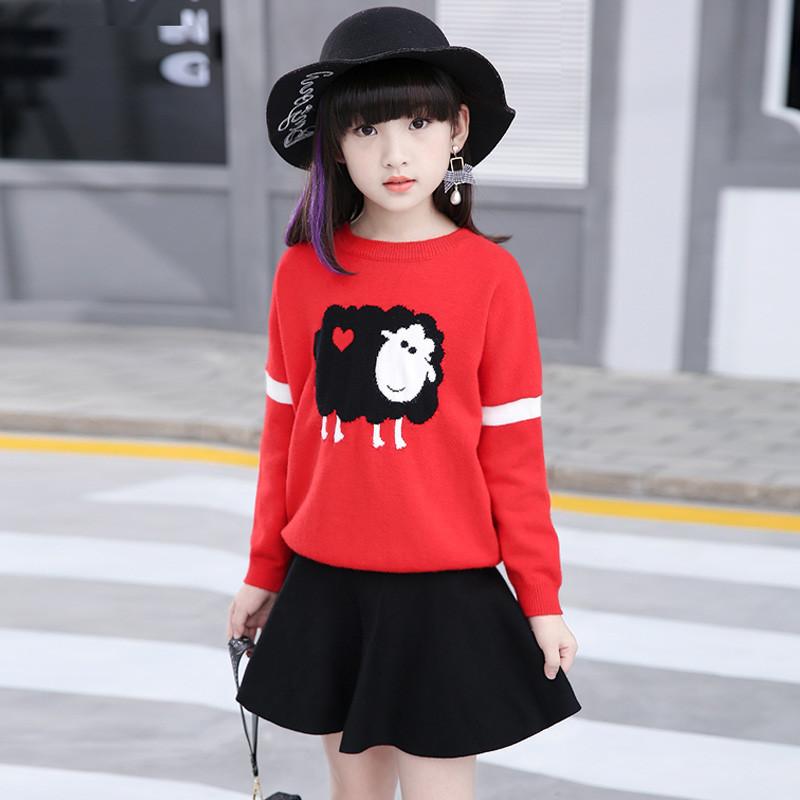 布奇酷童装 女童毛衣中大童儿童毛线衣韩版春