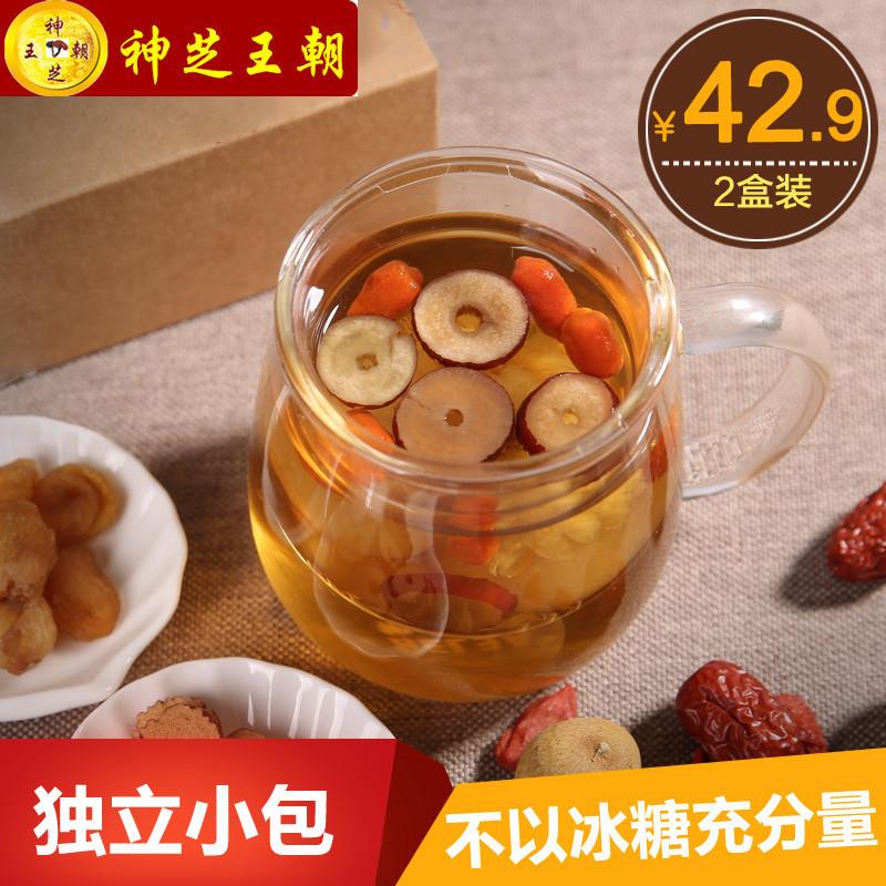 神芝王朝 养生茶 桂圆红枣枸杞茶180g*2盒 桂圆红枣茶