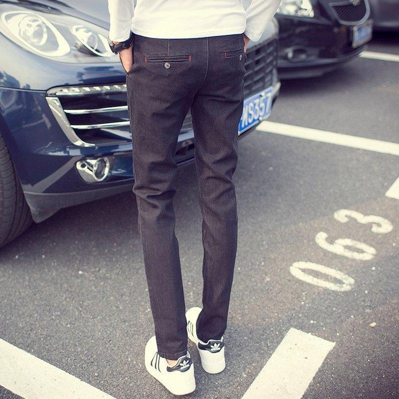 柏尼沃森2016春款 纯色小脚休闲修身牛仔裤小脚日系款 sj955-n67