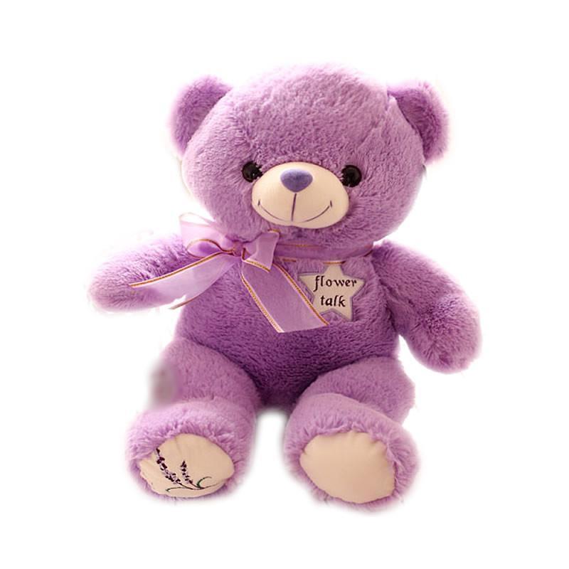 luckyted可爱薰衣草小熊公仔泰迪熊毛绒玩具抱枕抱抱熊娃娃情人节生日