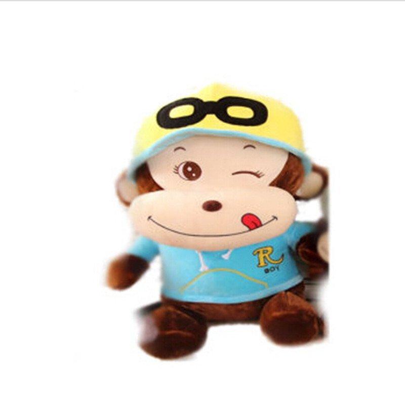 男女圣诞礼物可爱卡通戴帽子猴子公仔