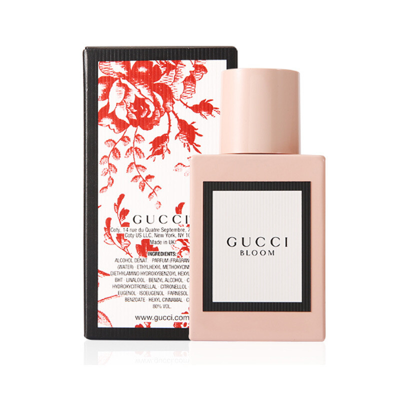 gucci古驰17新款香水bloom花木混合花悦繁花似锦茉莉花香香水30mledp