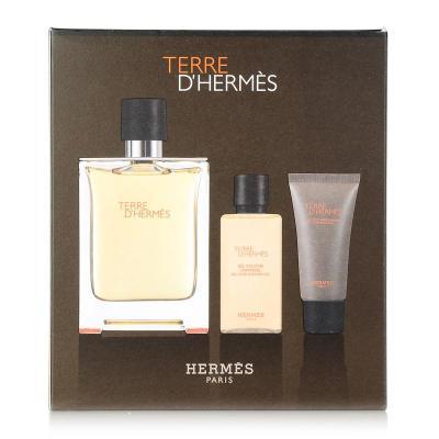Hermes爱马仕Terre大地中性男士淡香水100ml男香礼盒三件套装