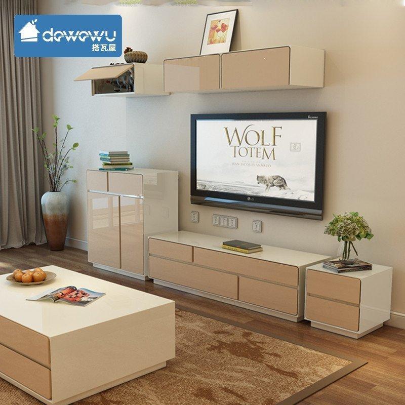 搭瓦屋 简约现代电视柜 小户型 客厅家具 钢琴烤漆