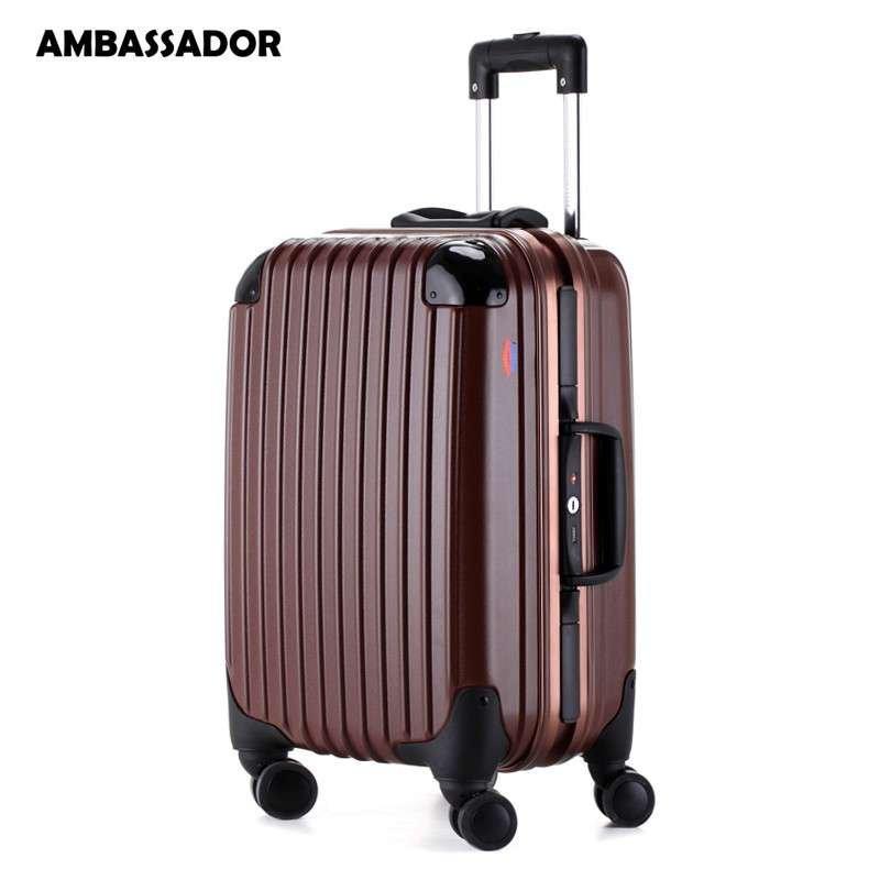 箱欧洲标准登机箱铝框男女行李箱包德国进口100%纯pc万向飞机轮海关锁